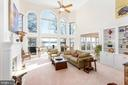 Open Family room with deck access - 9403 LUDGATE DR, ALEXANDRIA