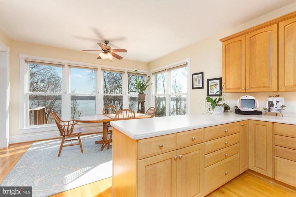 Kitchen with water view - 9403 LUDGATE DR, ALEXANDRIA