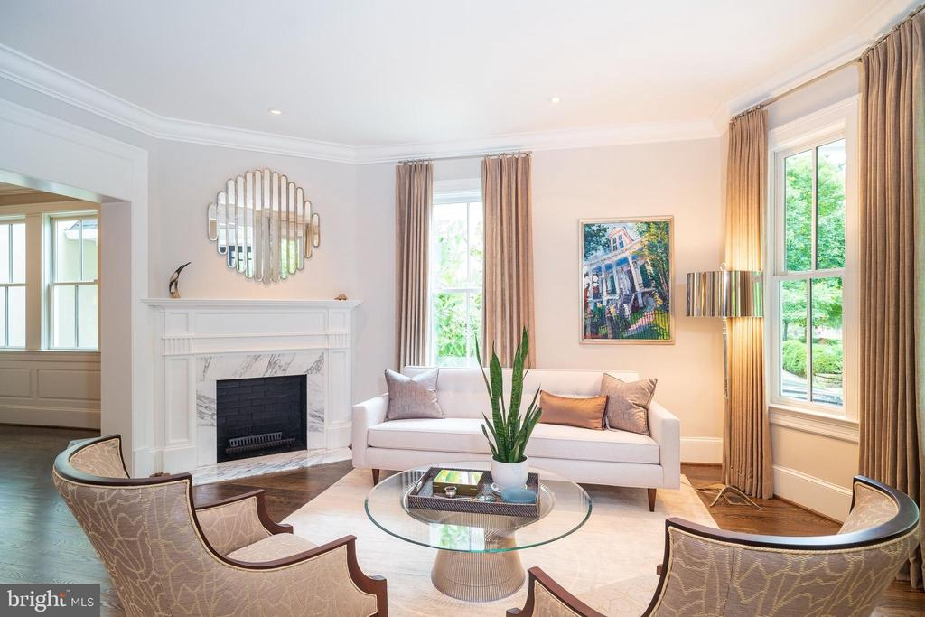 Living Room - 6303 BROAD BRANCH RD, CHEVY CHASE