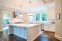 Expansive Marble Kitchen - 6303 BROAD BRANCH RD, CHEVY CHASE