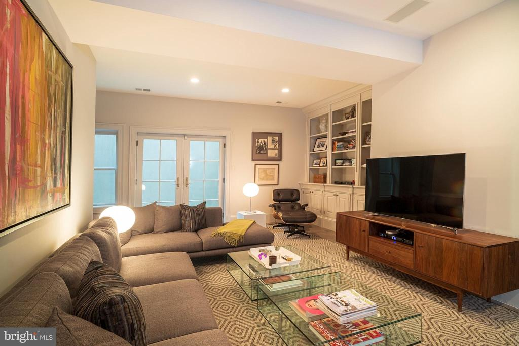 Spacious Walk-Out Recreation Room - 6303 BROAD BRANCH RD, CHEVY CHASE