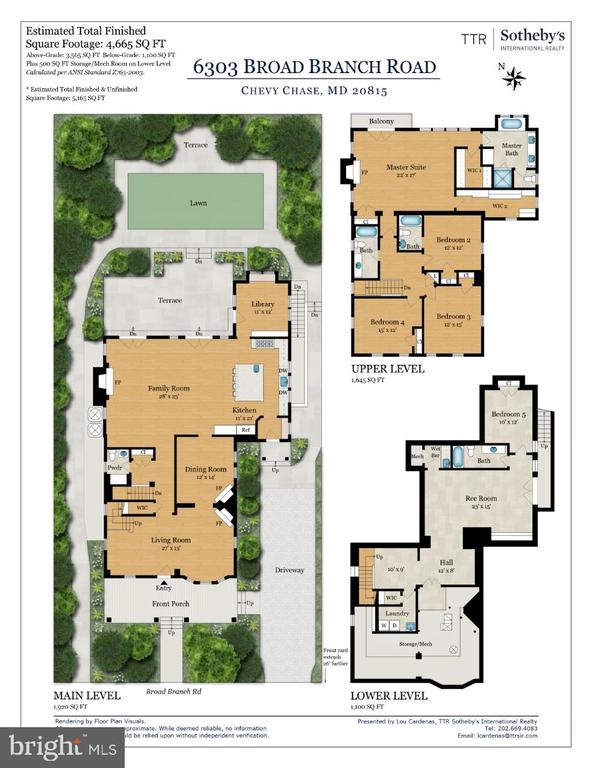 Floor Plan - 6303 BROAD BRANCH RD, CHEVY CHASE