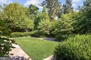 Rear Yard with Lush Landscaping - 6303 BROAD BRANCH RD, CHEVY CHASE