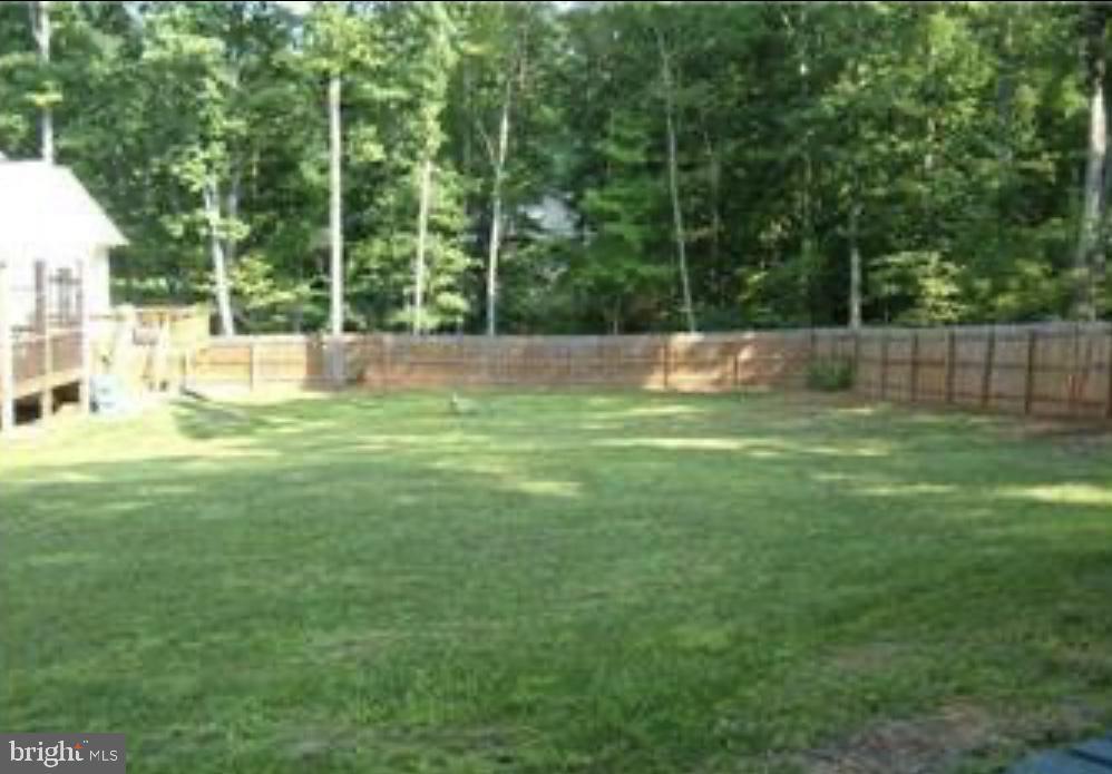 Fully, fenced rear yard - 11705 WILDERNESS PARK DR, SPOTSYLVANIA