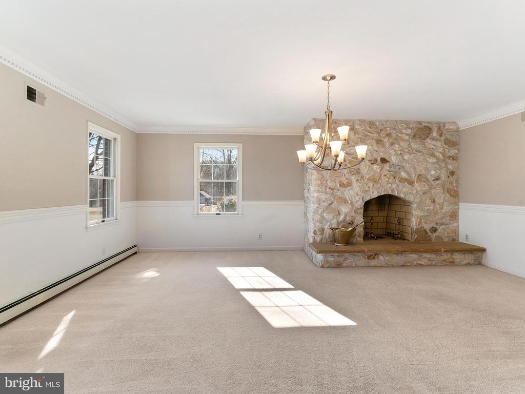 Dining Room with Massive Wood Burning Fireplace - 12143 RICHLAND DR, CATHARPIN