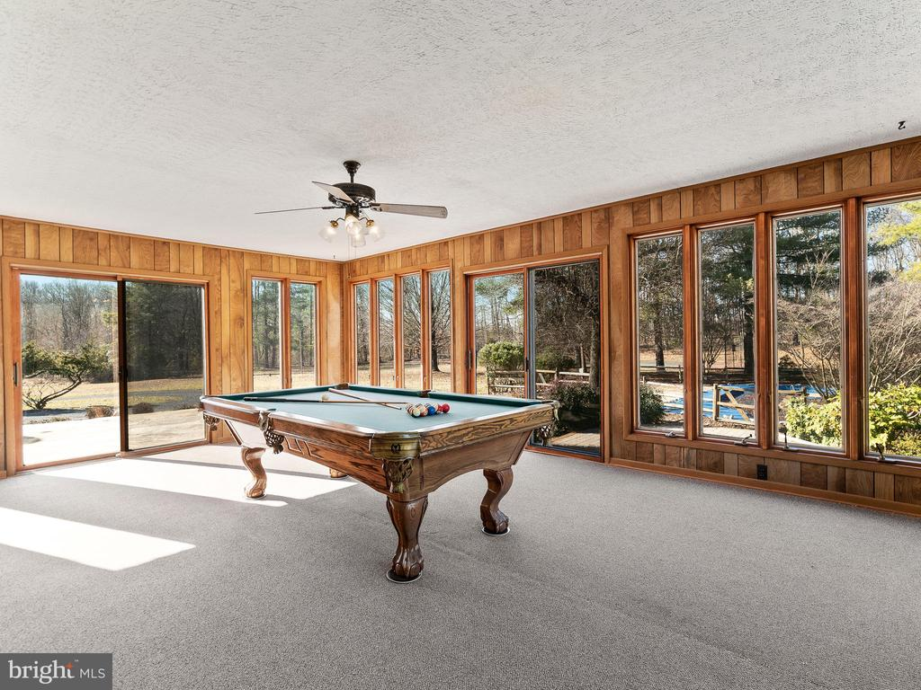 All Season/Sunroom with Pool Table - 12143 RICHLAND DR, CATHARPIN