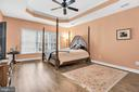 Dreamy master suite with tray ceiling - 47285 OX BOW CIR, STERLING