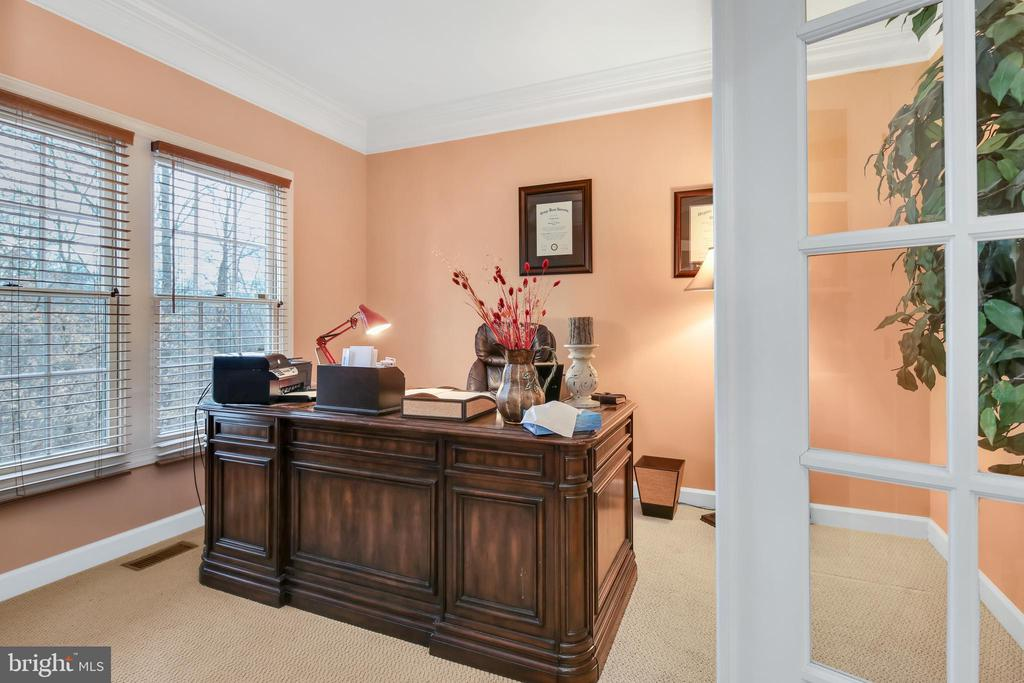 Private main level study with peaceful wooded view - 47285 OX BOW CIR, STERLING