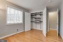 2nd bedroom. Custom designed closets throughout. - 1575 N VAN DORN ST, ALEXANDRIA