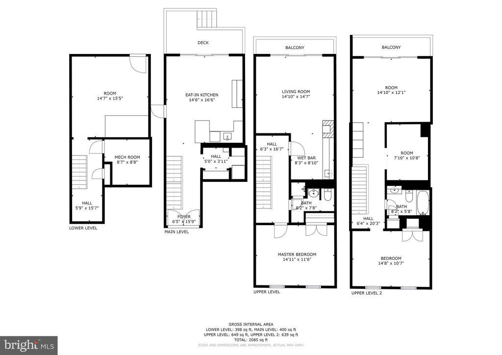 3526 K St. NW Floor Plans - 3524 - 3526 K ST NW, WASHINGTON
