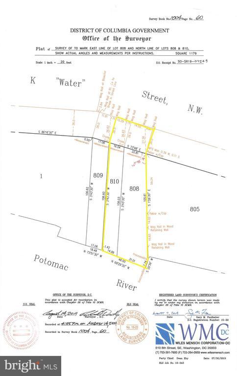 Site Survey - 3524 - 3526 K ST NW, WASHINGTON
