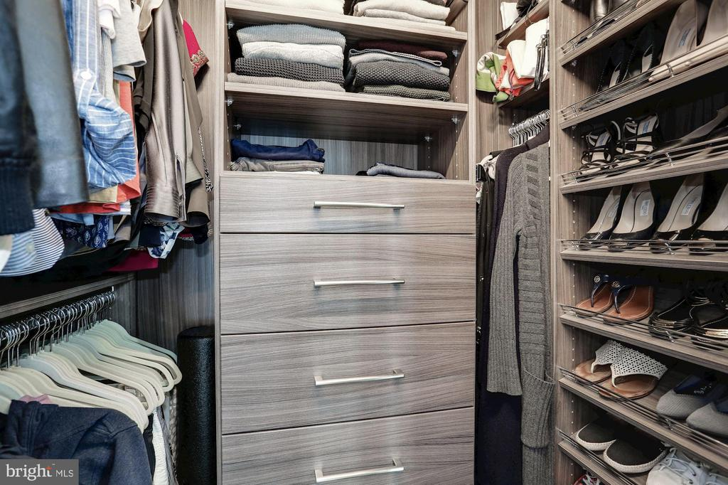 1st walk-in closet outfitted in custom cabinetry - 4523 WILSON BLVD, ARLINGTON