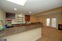 Entertainment Wet Bar with Raised Snack Bar - 36335 SILCOTT MEADOW PL, PURCELLVILLE