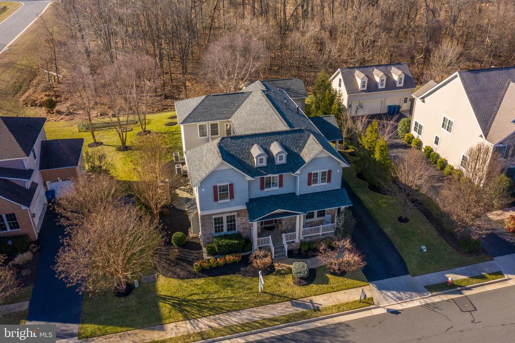 Aerial View Backing to Conservancy Land & Woods - 21883 KNOB HILL PL, ASHBURN