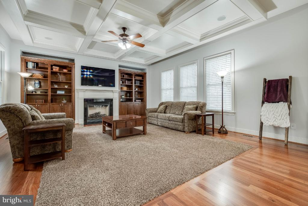 Large Family Room w/ Built-in Shelving & Cabinets - 21883 KNOB HILL PL, ASHBURN