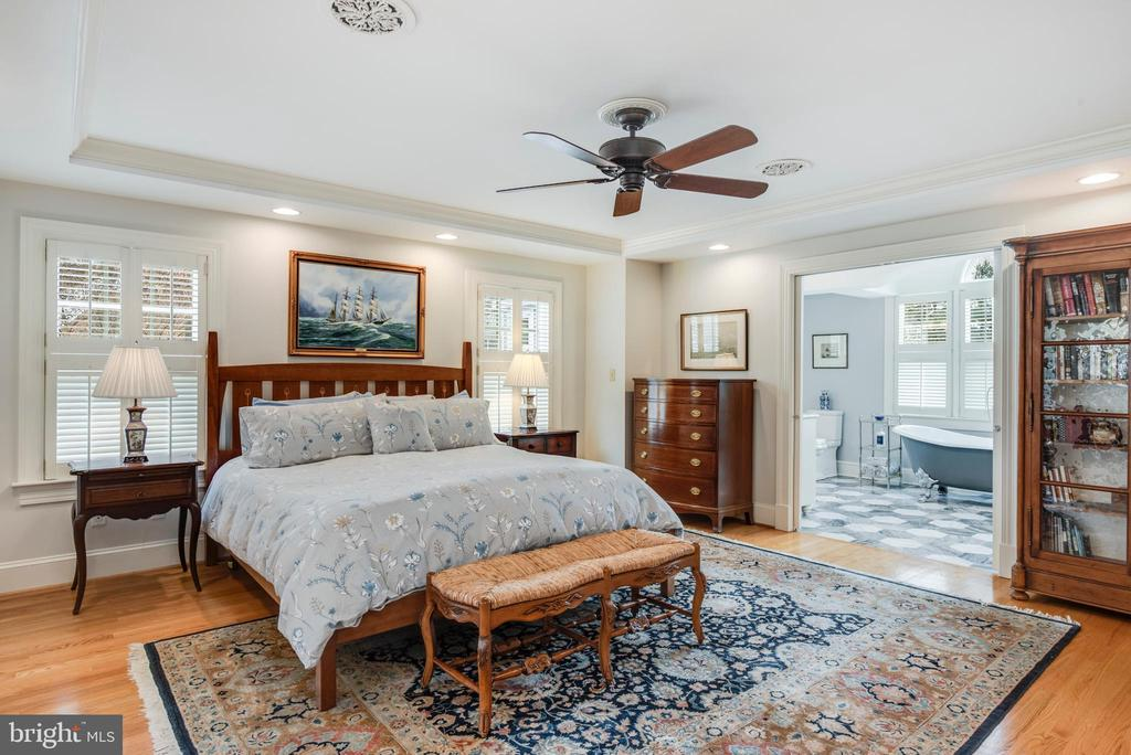 Master Bedroom with Ceiling Fan and wood floors - 136 LAFAYETTE AVE, ANNAPOLIS