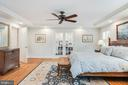 Master Bedroom w/French doors to sitting room - 136 LAFAYETTE AVE, ANNAPOLIS