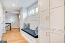 Hallway with Built-Ins, Bench and Laundry - 136 LAFAYETTE AVE, ANNAPOLIS