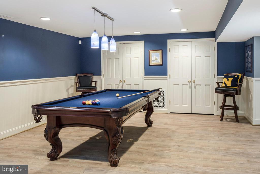Lower Level has plenty of room for a pool table - 136 LAFAYETTE AVE, ANNAPOLIS