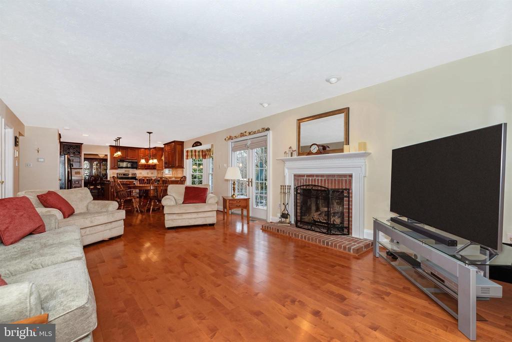 Family Room-Gas Fireplace - 10649 FINN DR, NEW MARKET