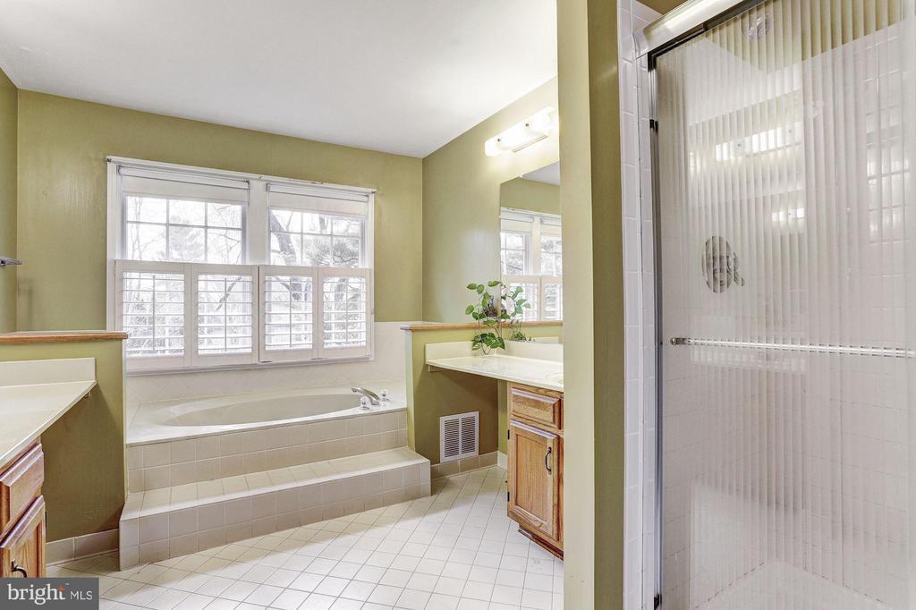 Master Bath | Glass Enclosed Shower - 10419 GORMAN RD, LAUREL