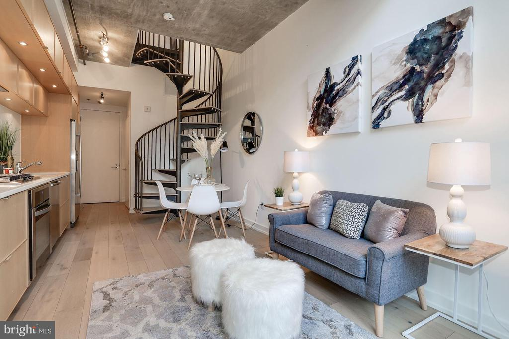 Cool stairway to the sleeping loft - 1515 15TH ST NW #206, WASHINGTON