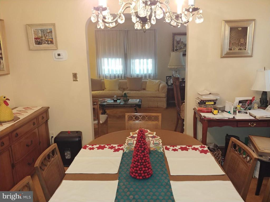View from Dinning area to Living room. - 4025 20TH ST NE, WASHINGTON