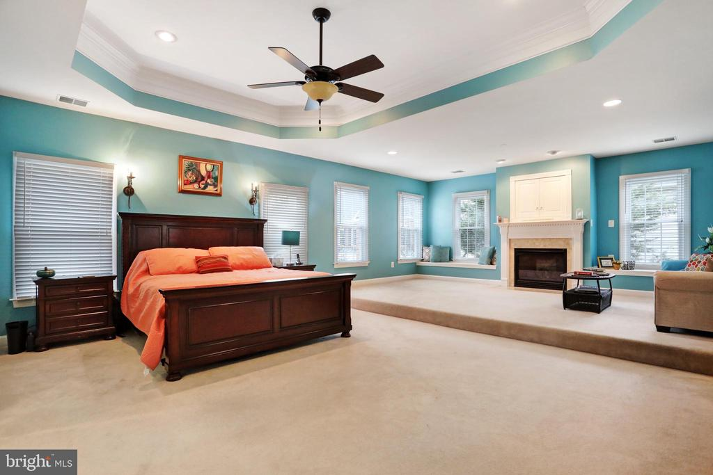Huge Master Bedroom with Tray Ceiling & Sitting Rm - 47747 BRAWNER PL, STERLING