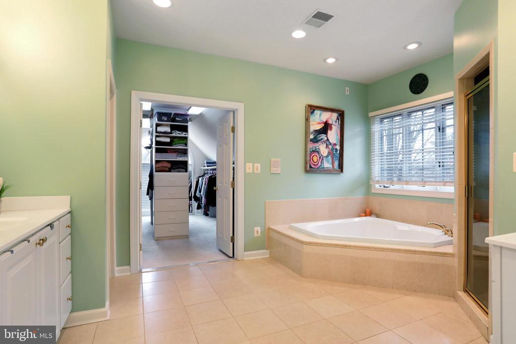 Luxury Master Bath with Jetted Soaking Tub - 47747 BRAWNER PL, STERLING