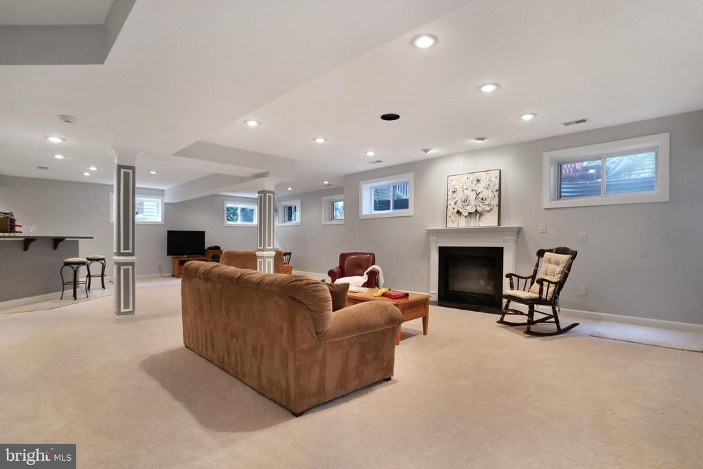 Rec Room with Gas Fireplace & Wet Bar - 47747 BRAWNER PL, STERLING