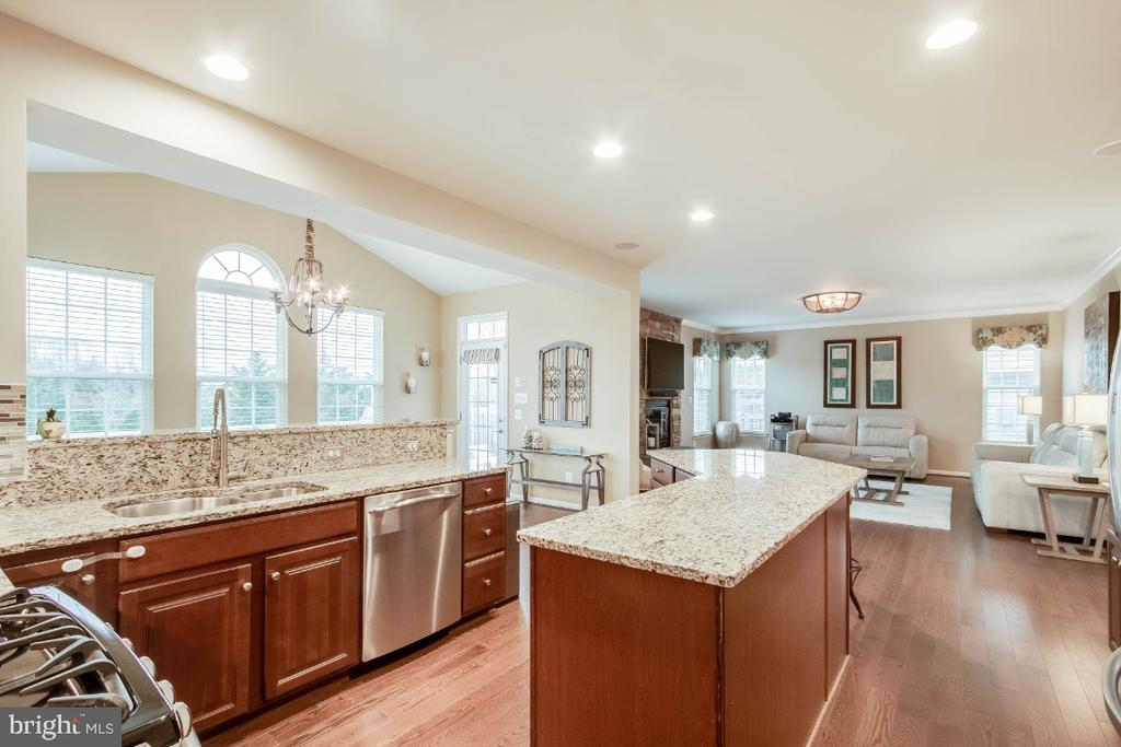 Gourmet Kitchen with Breakfast Bar - 26003 KIMBERLY ROSE DR, CHANTILLY