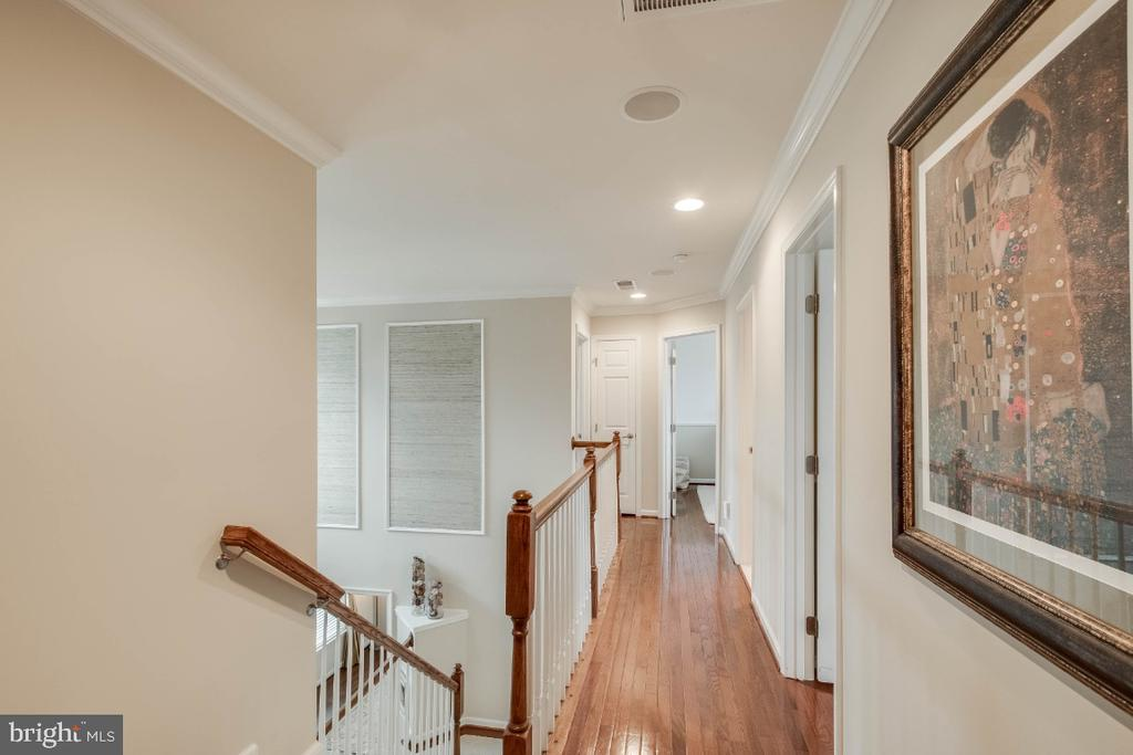 Upper Hallway with Hardwood Floors - 26003 KIMBERLY ROSE DR, CHANTILLY