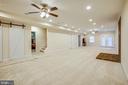 Large recreation room with barn doors - 2252 PARTLOW RD, BEAVERDAM
