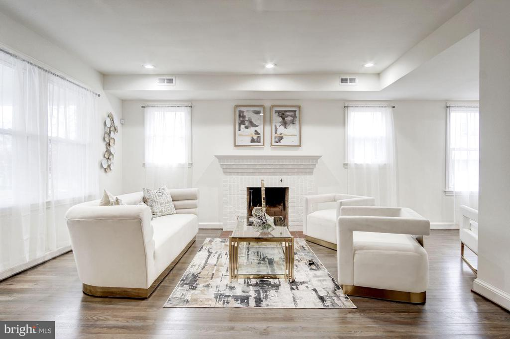 Engaging Fireplace is a Warm Centerpiece - 5710 3RD PL NW, WASHINGTON