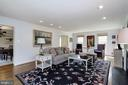 Spacious great room with custom built-ins. - 6951 GREENTREE RD, BETHESDA