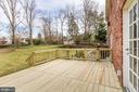 Newly built deck with patio and beautiful view. - 6951 GREENTREE RD, BETHESDA