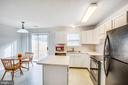 Kitchen with new range, frig, range hood & faucet - 9710 W MIDLAND WAY, FREDERICKSBURG