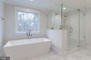 Owner's luxury bath - 10317 BURKE LAKE RD, FAIRFAX STATION