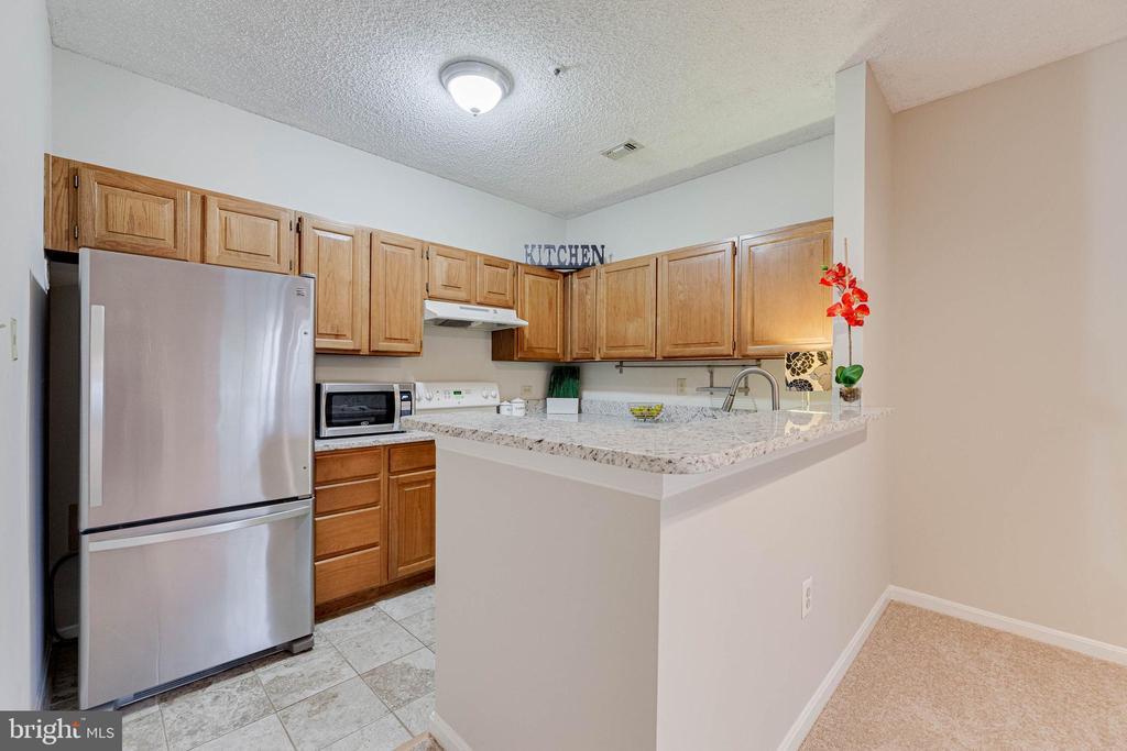 Granite counter and breakfast bar in kitchen - 287 S PICKETT ST #202, ALEXANDRIA