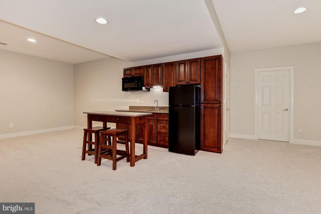 Lower Level Recreation Room with Wet Bar - 43265 OVERVIEW PL, LEESBURG