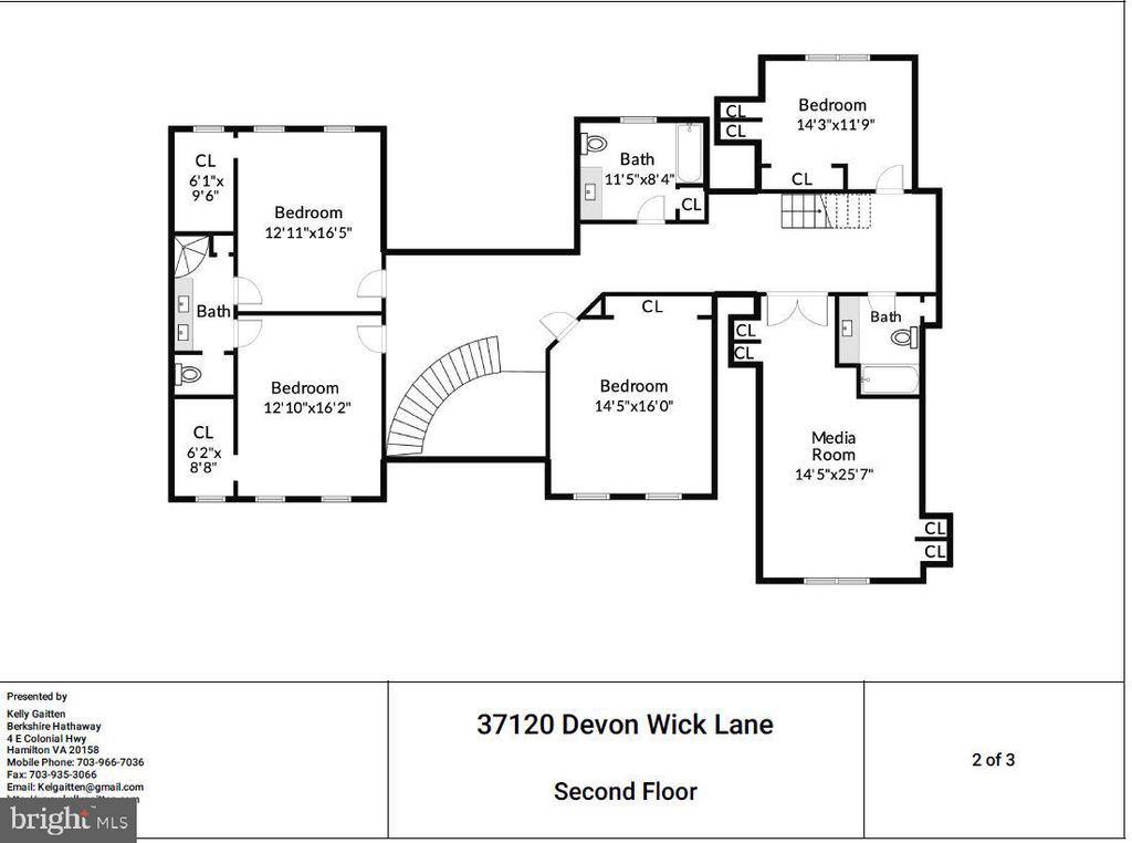 Second Floor Plan - 37120 DEVON WICK LN, PURCELLVILLE