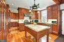 Kitchen with island - 205 MILL SWAMP RD, EDGEWATER