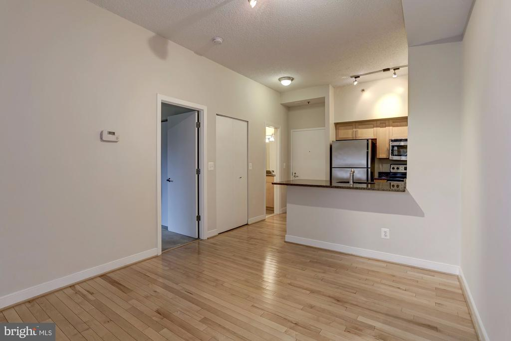 Hardwood Floors Throughout the Kitchen and Living - 7500 WOODMONT AVE #S208, BETHESDA