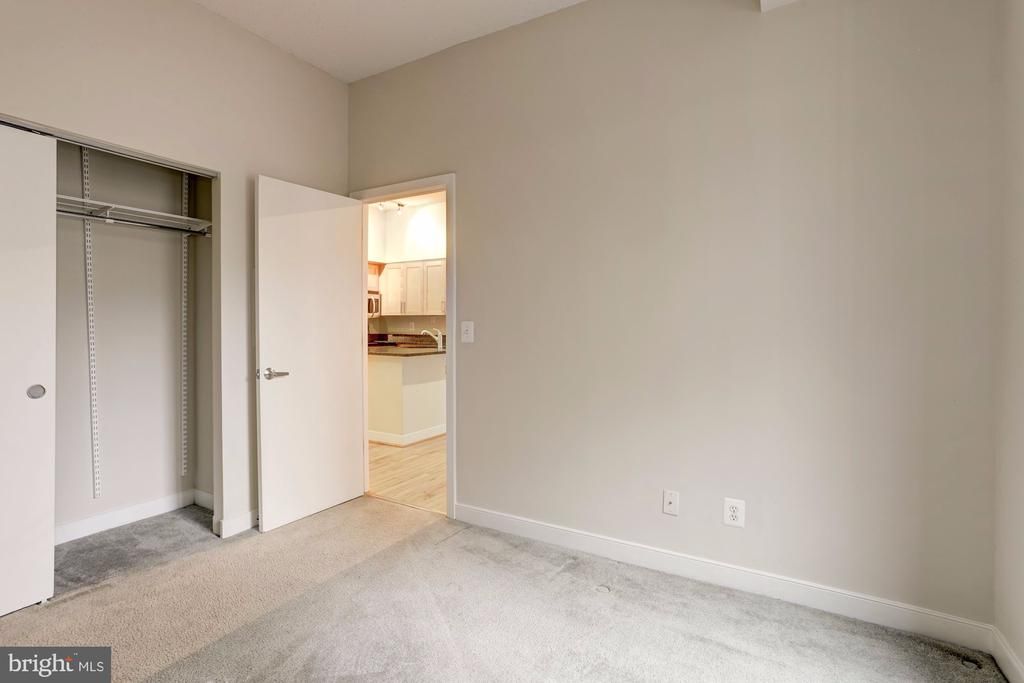 Carpeted Bedroom with Spacious Closet - 7500 WOODMONT AVE #S208, BETHESDA