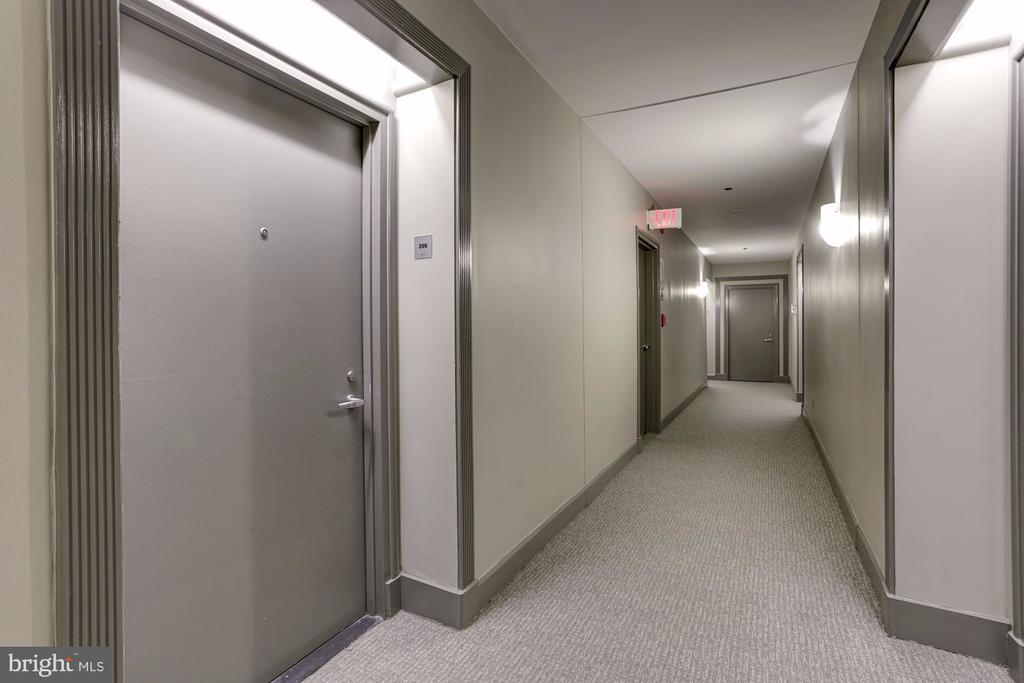 Spacious Hallway Leading to #208 - 7500 WOODMONT AVE #S208, BETHESDA