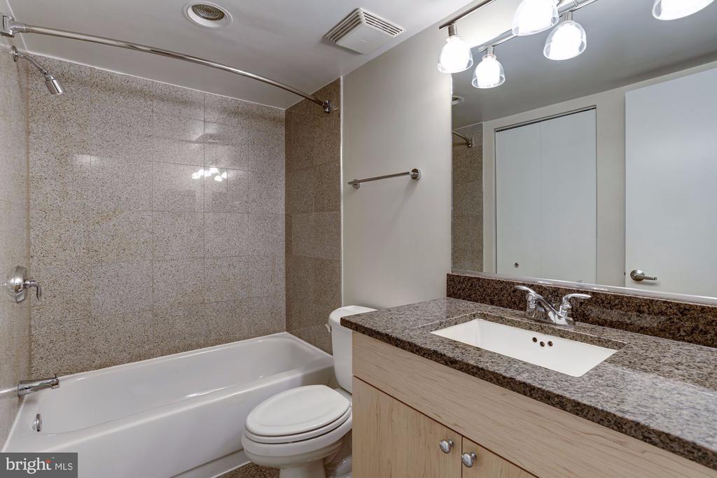Updated Bathroom featuring Soaking Tub + Granite C - 7500 WOODMONT AVE #S208, BETHESDA