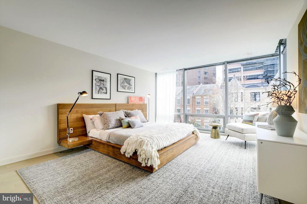 Master Bedroom Facing South - 1111 24TH ST NW #23, WASHINGTON