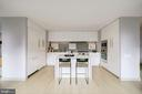 High Gloss Stevali Cabinetry With Waterfall Island - 1111 24TH ST NW #23, WASHINGTON