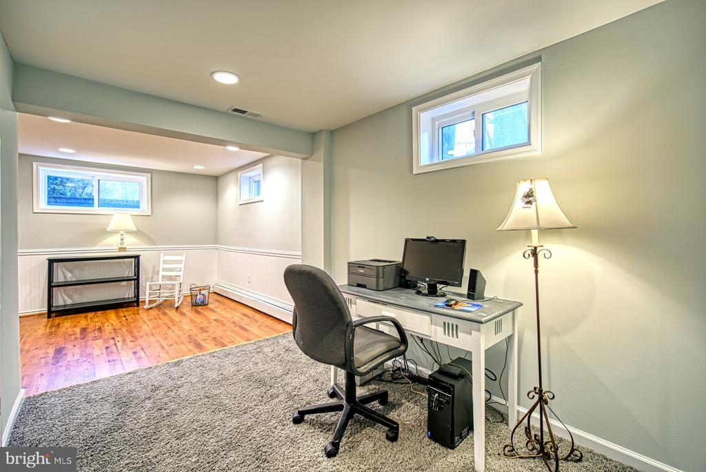 This basement is sunny with windows all around. - 4102 POPLAR ST, FAIRFAX