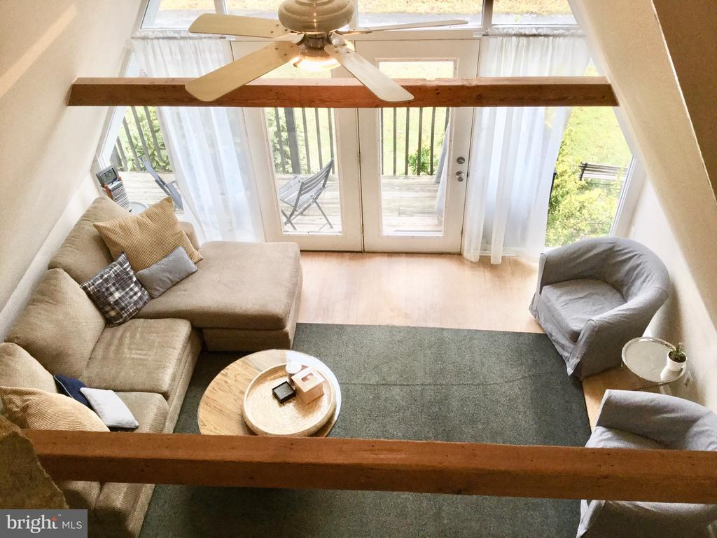 View looking down from Juliet Balcony (Master BR) - 2180 S CRISSFORD RD, ADAMSTOWN